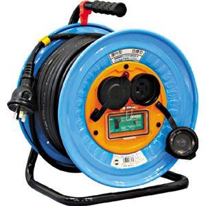 日動 電工ドラム 防雨防塵型三相200V アース漏電しゃ断器付 30m DNWEB33020A