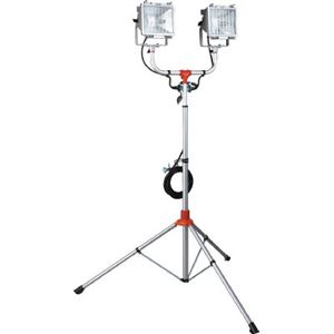 ハタヤ 防災用ハロゲンライトセット(防雨型) 300W×2灯100V接地付5m PHCX305KSN - 拡大画像