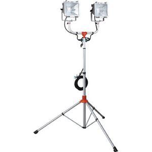 ハタヤ 防災用ハロゲンライトセット(防雨型) 500W×2灯100V接地付5m PHCX505KSN - 拡大画像