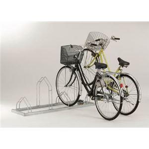 ダイケン 平置き自転車ラック前輪差込式サイクルスタンド 6台収容ピッチ400 CSM6 - 拡大画像
