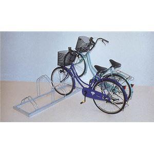 ダイケン 平置き自転車ラック前輪差込式サイクルスタンド 両面12台収容 CSMW12 - 拡大画像