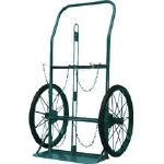 KS ボンベ運搬車(大車輪型)酸素7000L容器、アセチレン7.0kg容器用 KUO