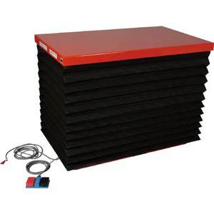 TRUSCO テーブルリフト1000kg 油圧式 650X1200 蛇腹付 HDL1000612J