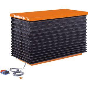 TRUSCO テーブルリフト1000kg 油圧式 750X1350 蛇腹付 HDL1000713J
