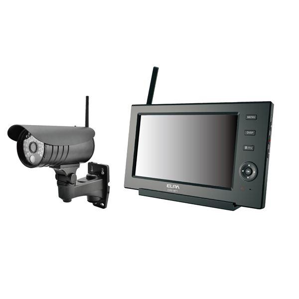 ELPA(エルパ) ワイヤレス防犯カメラ&モニターセット CMS-7110