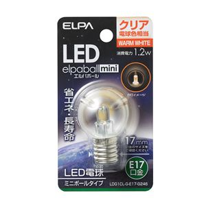 (業務用セット) ELPA LED装飾電球 ミニボール球形 E17 G30 クリア電球色 LDG1CL-G-E17-G246 【×10セット】