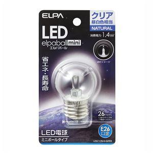 (業務用セット)ELPALED装飾電球ミニボール球形E26G40クリア昼白色LDG1CN-G-G255【×5セット】
