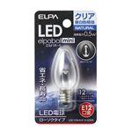 (業務用セット) ELPA LED装飾電球 ローソク球形 E12 クリア昼白色 LDC1CN-G-E12-G305 【×10セット】