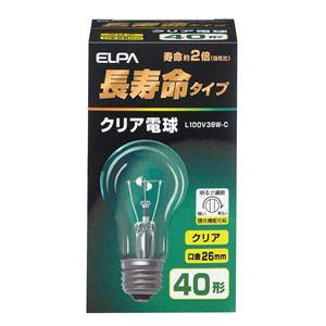 (業務用セット)ELPA長寿命クリア電球40W形E26L100V38W-C【×35セット】