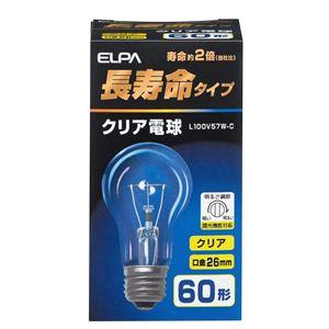 (業務用セット)ELPA長寿命クリア電球60W形E26L100V57W-C【×35セット】