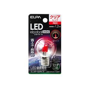 (業務用セット)ELPALED装飾電球ミニボール球形E17G30クリアレッドLDG1CR-G-E17-G247【×5セット】