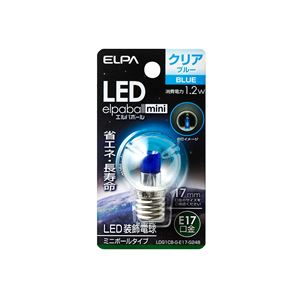 (業務用セット)ELPALED装飾電球ミニボール球形E17G30クリアブルーLDG1CB-G-E17-G248【×5セット】