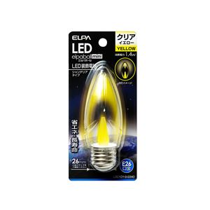 (業務用セット)ELPALED装飾電球シャンデリア球形E26クリアイエローLDC1CY-G-G340【×5セット】