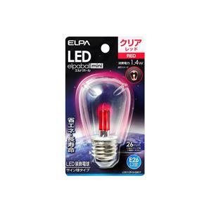 (業務用セット)ELPALED装飾電球サイン球形E26クリアレッドLDS1CR-G-G907【×5セット】