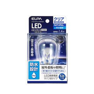 (業務用セット)ELPA防水型LED装飾電球サイン球形E26クリア昼白色LDS1CN-G-GWP905【×5セット】
