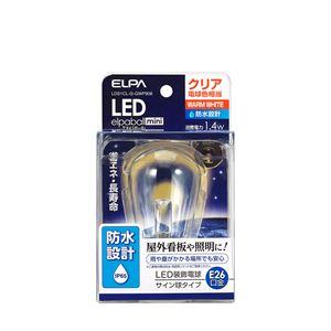 (業務用セット)ELPA防水型LED装飾電球サイン球形E26クリア電球色LDS1CL-G-GWP906【×5セット】