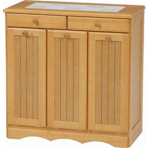 ダストボックス木製おしゃれゴミ箱3分別15Lペール3個/キャスター付きナチュラル【完成品】