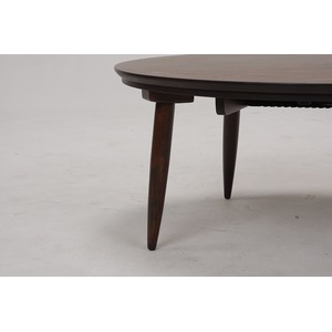 リビングこたつテーブル 楕円形 本体 木製(ウォールナット) ペリオOR105U
