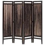 パーテーション(スクリーン) グランツシリーズ 4連 木製 高さ150cm アジアン風 ブラウン