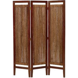 パーテーション(スクリーン) グランツシリーズ 3連 木製 高さ150cm アジアン風 ナチュラル - 拡大画像