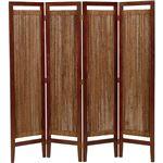 パーテーション(スクリーン) グランツシリーズ 4連 木製 高さ150cm アジアン風 ナチュラル