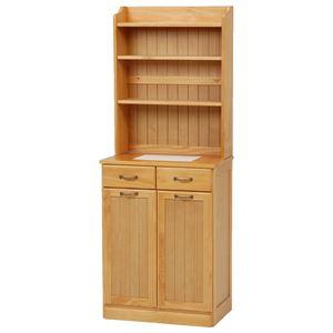 ダストボックス 木製おしゃれゴミ箱 25Lペール2個付き MUD-6552 ナチュラル
