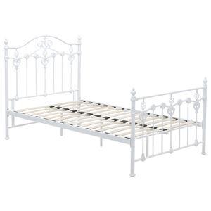 シングルベッド スチールパイプ 白  - 拡大画像