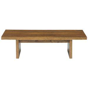 マンゴーウッドテーブル(ローテーブル/リビングテーブル) 長方形/幅120cm 木製 木目調 texens(テクセンス)