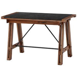 おしゃれでシンプルなテーブル・デスク ダイニングテーブル 長方形 リベルタIIシリーズ 木製(マホガニー)/スチール製 RT-1410