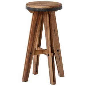 ハイスツール リベルタIIシリーズ 木製(マホガニー)/スチール製 RH-1418 - 拡大画像