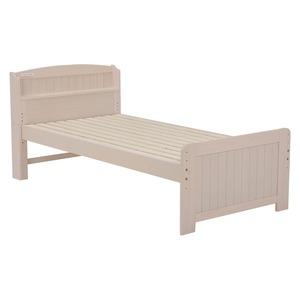 すのこベッド 本体 【シングルサイズ】 高さ4段階調整可 ベッド下大容量収納 二口コンセント/宮付き ホワイト(白) - 拡大画像