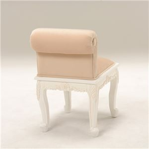 【訳あり・在庫処分】 猫足リビングチェア(ローチェア) 木製 座面高44cm アンティーク調 姫系 ベージュ