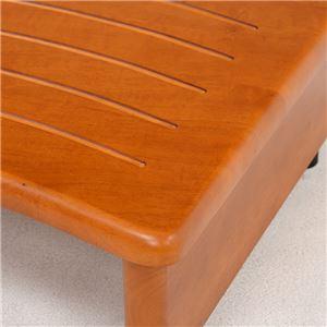 玄関踏み台(ステップ/玄関台) 幅45cm 木製 アジャスター付き