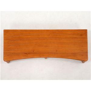 玄関踏み台(ステップ/玄関台) 幅90cm 木製 アジャスター付き