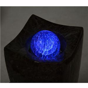 噴水/ファウンテン 【循環型】 ポリレジン製 LEDライト付き 〔インテリア/屋外/ガーデニング用品〕