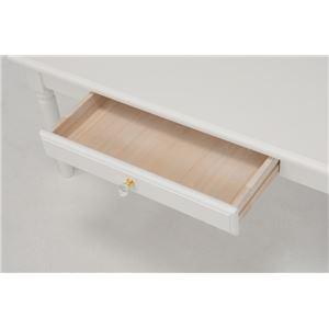 シンプルセンターテーブル/ローテーブル 【幅75cm】 木製 クリスタル調取っ手/引き出し付き ホワイト(白)
