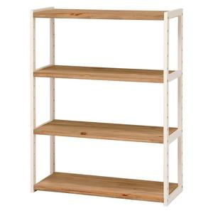 オープンラック/マルチ収納棚【3段/幅75cm】ナチュラルアイボリー木製木目調