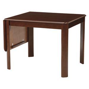 伸長式ダイニングテーブル/バタフライテーブル 【長方形/ダークブラウン】 幅93/135cm 木製 丸角