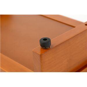 玄関踏み台/ステップ 【幅45cm】 木製 マット/アジャスター付き