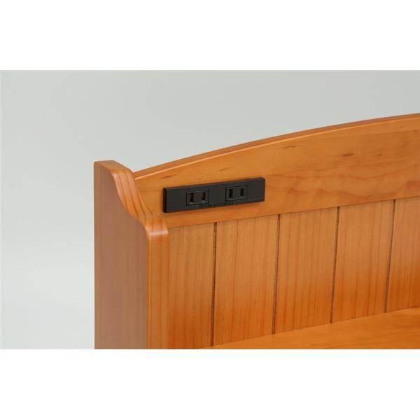 北欧カントリースタイル、天燃木パイン材・ショート丈ベッド