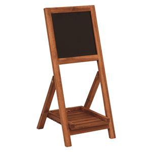 黒板付き木製スタンド【折りたたみ式】幅30cm×奥行35.5cm×高さ68cm木製