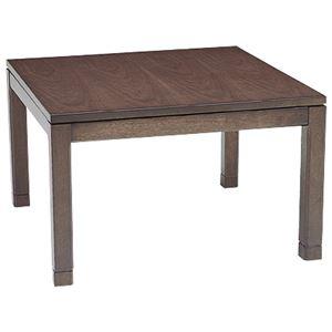リビングこたつテーブル/センターテーブル 本体 【幅90cm ミドルタイプ/ブラウン】正方形 継ぎ足