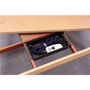 リビングこたつテーブル/センターテーブル 本体 【幅120cm ミドルタイプ/ブラウン】 長方形 継ぎ足 『シェルタ』