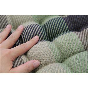 インド綿ウール混シートクッション メルモ 40cm×40cm グリーン