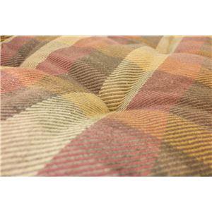 インド綿ウール混長座布団 メルモ 68cm×120cm オレンジ