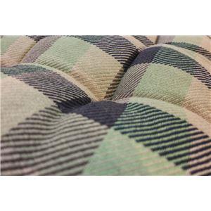 インド綿ウール混長座布団 メルモ 68cm×120cm グリーン
