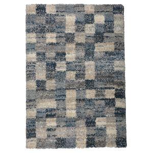 北欧風 ラグマット/絨毯 【140cm×200cm ブロック】 長方形 高耐久 ウィルトン 『QUEEN クィーン』 〔リビング〕