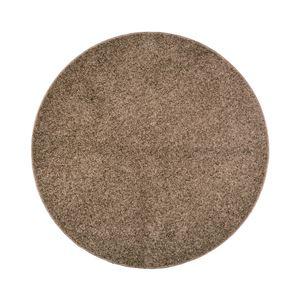 抗菌防臭 ラグマット/絨毯 【160R ブラウン】 円形 日本製 折りたたみ 防ダニ ホットカーペット 通年可 『デタント』