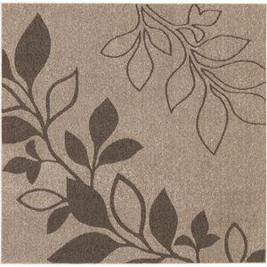 花粉ウイルス対策 ラグマット/絨毯 【185cm×185cm ブラウン】 正方形 日本製 折りたたみ 防ダニ 抗菌 防臭 通年 『アルブル』