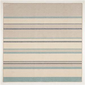 涼感 ラグマット/絨毯 【185cm×185cm ブルー】 正方形 洗える 日本製 防ダニ 抗菌 タフトラグ 『フロワ』